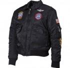 USA Pilotska Decija Jakna, CWU, crna sa pechevima