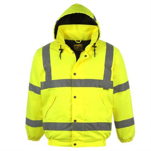 British police fluo gore-tex jakna