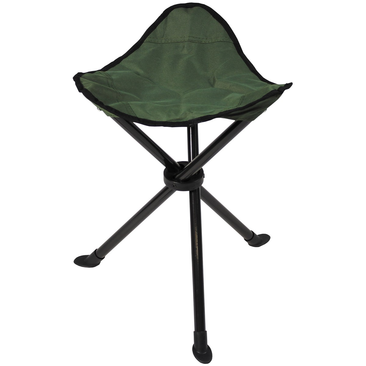 Folding Stool, tripod, OD green, carrying strap