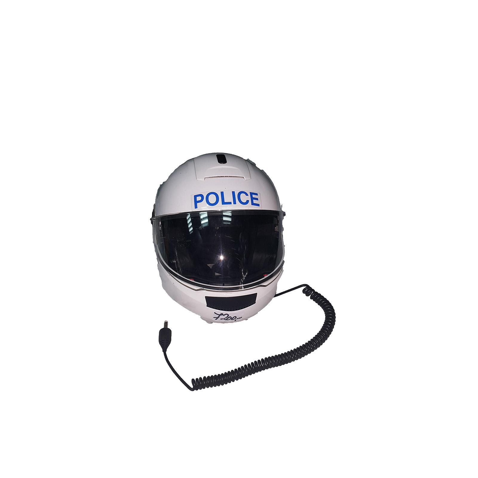 Policiska moto kaciga sa slušalicama i mikrofonom