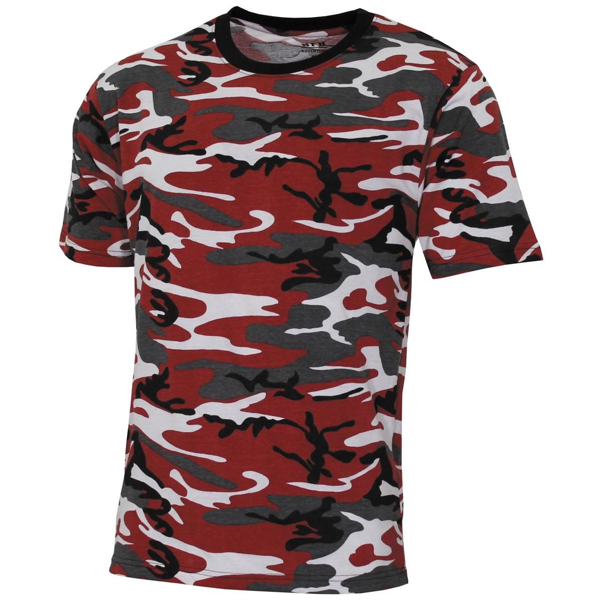 Majica US urban red camo