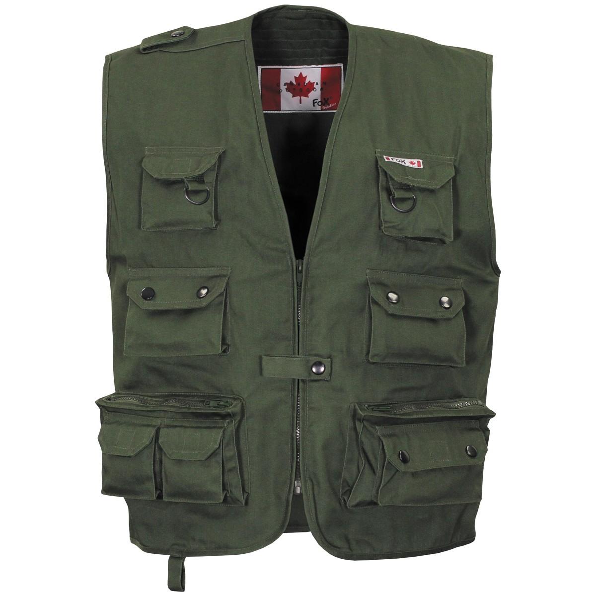 Prsluk Canadian Outdoor FOX zeleni