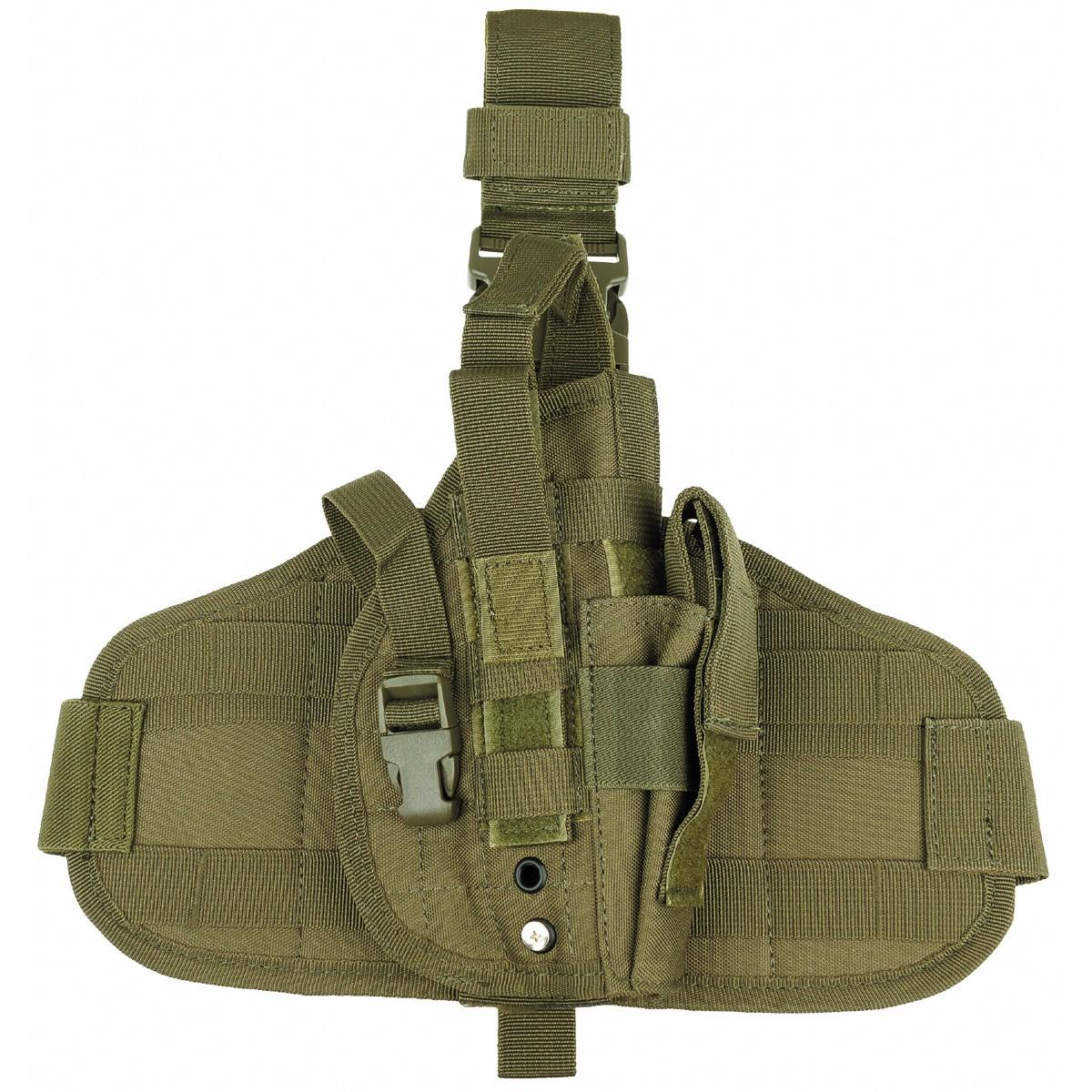 Taktički holster oko struka i butine molle desni OD