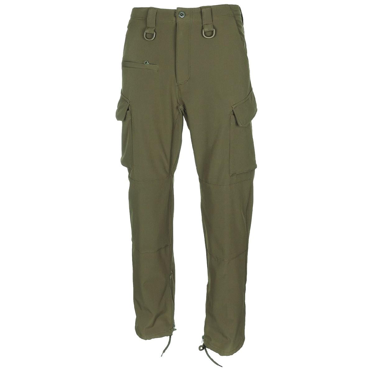 Pantalone soft shell zelene OD