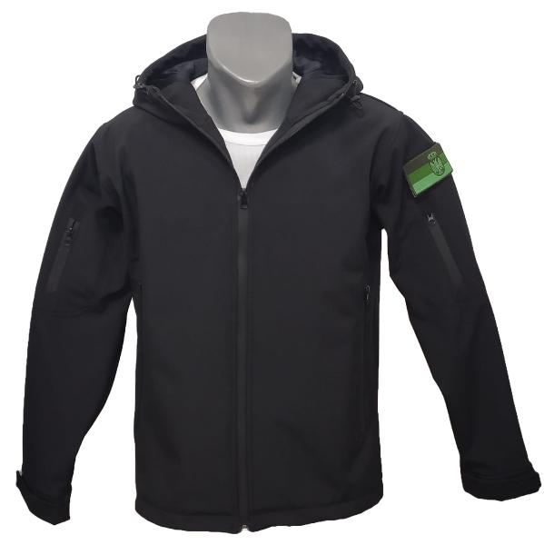 Softshell jakna crna sa ševronom Srbije 3