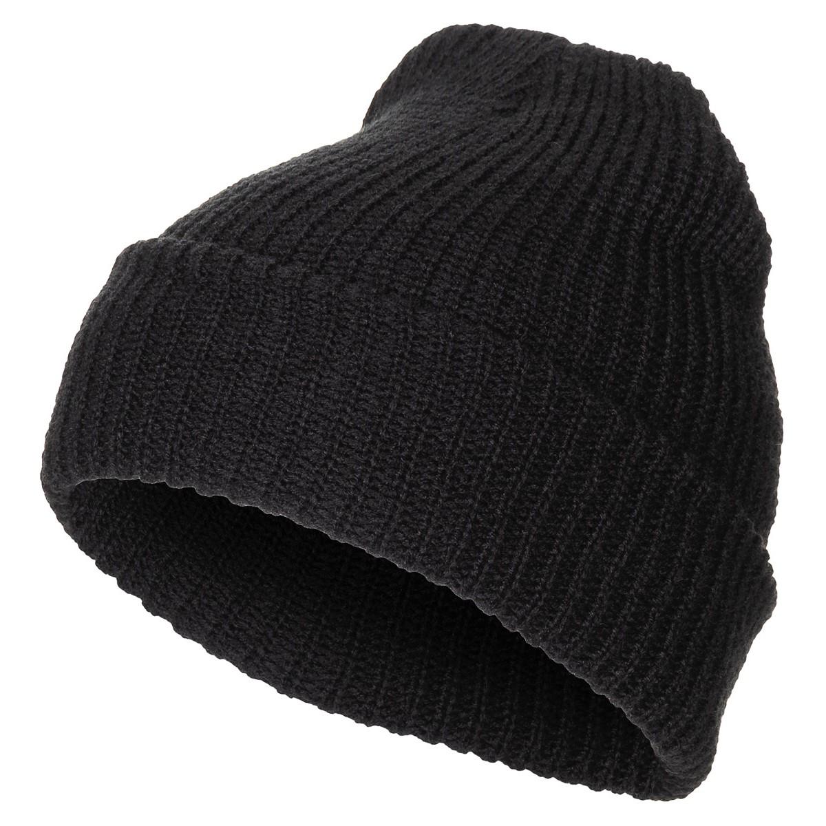 Kapa crna pletena